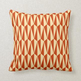 Mid-Century Modern geometric, shades of orange Throw Pillow