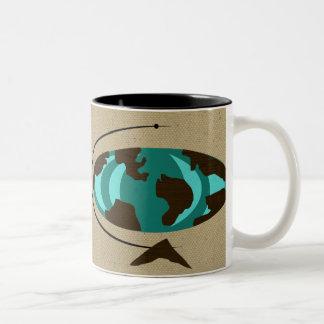 Mid Century Modern Globe Art Coffee Mug