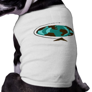Mid Century Modern Globe Art Dog Shirt