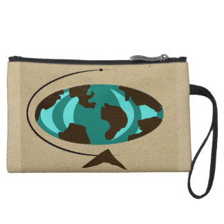 Mid Century Modern Globe Art Mini Clutch