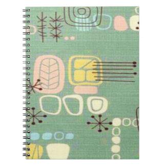 Mid Century Modern Graphic Design Notebook