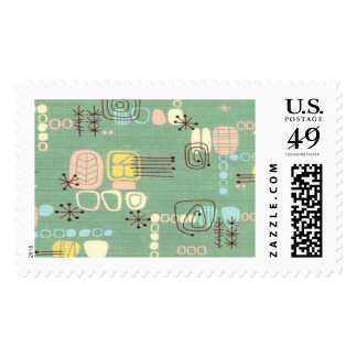 Mid Century Modern Graphic Design Postage Stamps