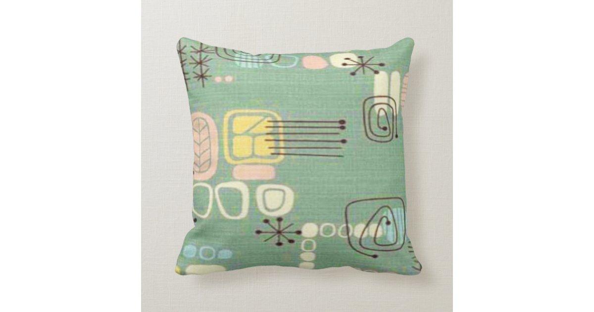 Mid Century Modern Graphic Design Throw Pillow Zazzle