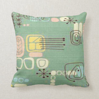 Mid Century Modern Graphic Design Throw Pillow