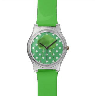Mid Century Modern Green Chair on Polka Dots Watch