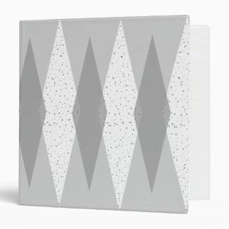 Mid Century Modern Grey Argyle Binder