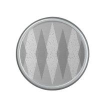 Mid Century Modern Grey Argyle Bumpster Speaker