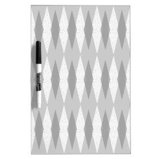 Mid Century Modern Grey Argyle Dry Erase Board