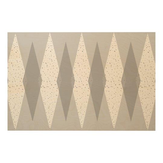 Mid Century Modern Grey Argyle Wood Wall Art Zazzlecom
