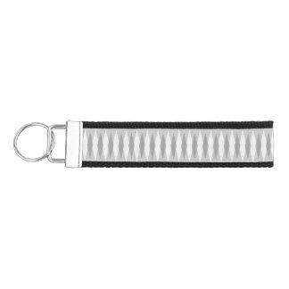 Mid Century Modern Grey Argyle Wrist Keychain