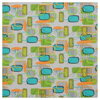 Mid-Century Modern Half Moons Design Fabric 17