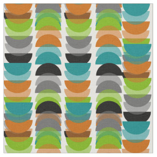 Mid-Century Modern Half Moons Design Fabric 5