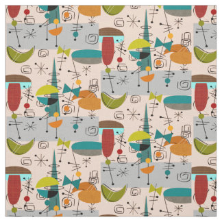 Mid Century Designs Fabric Zazzle