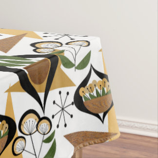 Mid-Century Modern | Houseplants | Fifties Style Tablecloth