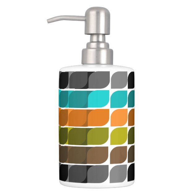 Image of: Mid Century Modern Inspired Abstract 55 Bathroom Set Zazzle Com