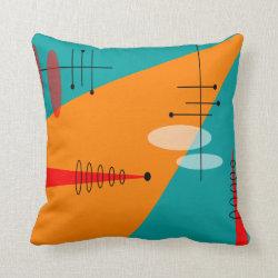 Mid-Century Modern Inspired Atomic #86 Pillow
