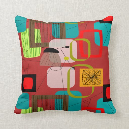 Mid Century Modern Pillows Etsy : Mid-Century Modern Inspired Pillow #71 Zazzle