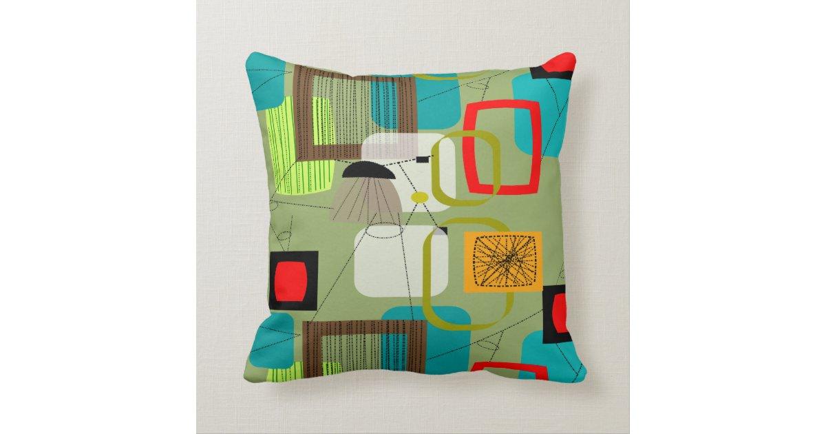 Mid-Century Modern Inspired Pillow #73 Zazzle