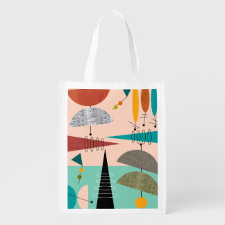 Mid-Century Modern Inspired Tote Bag #22 Grocery Bag