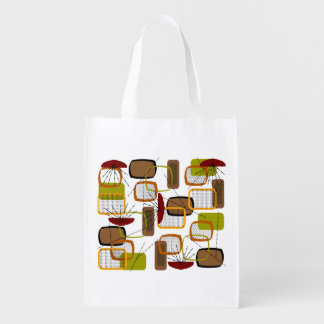 Mid-Century Modern Inspired Tote Bag #4 Grocery Bag