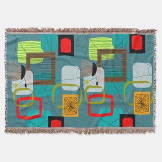 Mid-Century Modern Inspired Woven Blanket #1 Throw Blanket