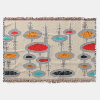 Mid-Century Modern Inspired Woven Blanket #43 Throw Blanket