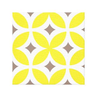Mid-Century Modern Inspired Yellow Flower Print