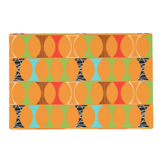 Mid Century Modern Orange Laminated Placemat