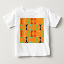 Mid Century Modern Orange Pattern Baby T-Shirt