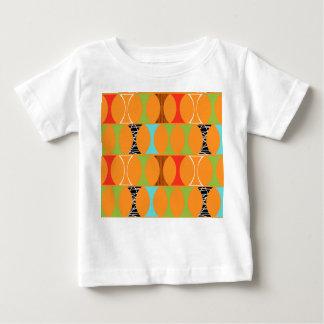 Mid Century Modern Orange Pattern Baby T-Shirt