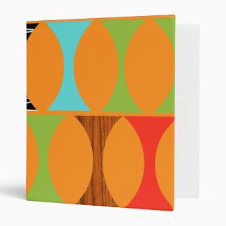 Mid Century Modern Orange Pattern Binder