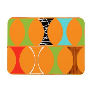 Mid Century Modern Orange Pattern Magnet
