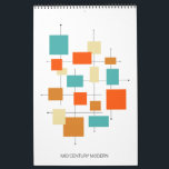 "Mid Century Modern Original Art Retro Calendar<br><div class=""desc"">Have original art on your wall each month with this funky mid century modern wall calendar,  featuring my original retro art.</div>"