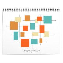 Mid Century Modern Original Retro Art Calendar