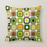 Mid-Century Modern Pillow Abstract Squares