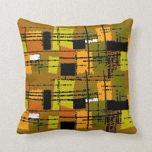 Mid-Century Modern Pillow Barkcloth Inspired