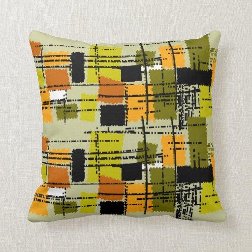 Mid-Century Modern Pillow Barkcloth Inspired II