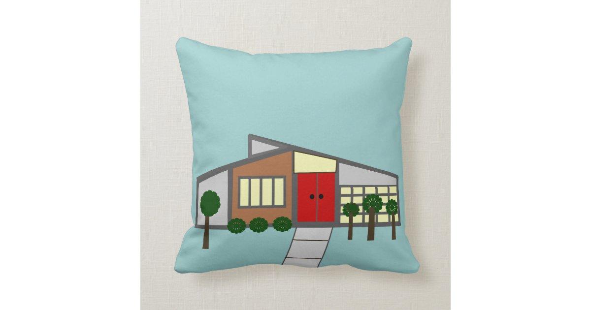 Mid Century Modern Style Pillows : Mid-Century Modern Pillow House Design IV Zazzle