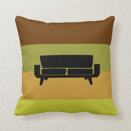 Mid-Century Modern Pillow Sectional Sofa Zazzle