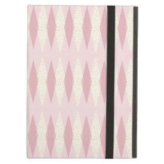 Mid Century Modern Pink Argyle iPad Air Case