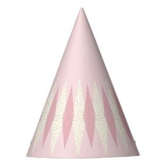 Mid Century Modern Pink Argyle Party Hats