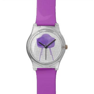 Mid Century Modern Purple Chair Wrist Watch