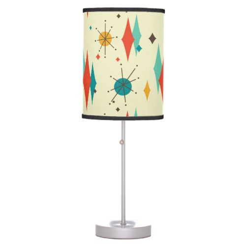 Mid Century Modern Retro Atomic Starburst Diamond Table Lamp