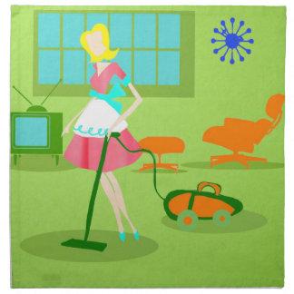 Mid Century Modern Retro Housewife Cloth Napkins