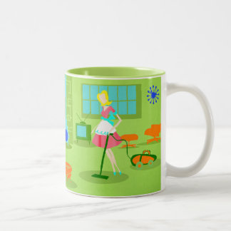 Mid Century Modern Retro Housewife Coffee Mug