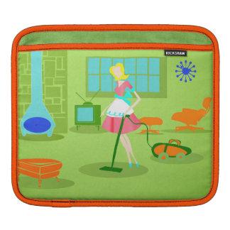 Mid Century Modern Retro Housewife iPad Sleeve