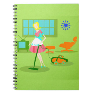 Mid Century Modern Retro Housewife Notebook