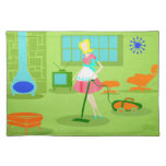 Mid Century Modern Retro Housewife Placemat Cloth Place Mat