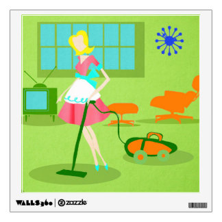 Mid Century Modern Retro Housewife Wall Decal