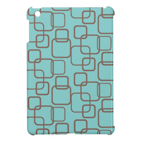 Mid Century Modern Rounded Square Mod Pattern Case iPad Mini Cover